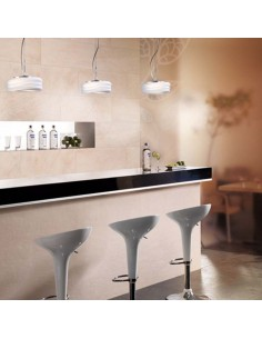 Lámpara de Techo Cristal Opaco Cromo Serie Mediterraneo de mantra olas de mar Mantra 3622 | LeonLeds
