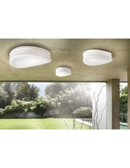 Aplique Plafón de Techo 3624 Serie Mediterraneo 22cm de diámetro Cristal Cromo Mantra | LeonLeds Iluminación