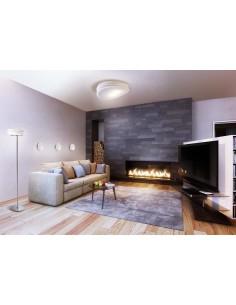 Lámpara de Pie para Salón 3628 Mantra Serie Mediterraneo Cromo Cristal Mantra | LeonLeds