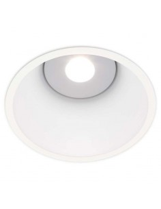 Downlight LED Redondo Empotrable Lex Eco 1 Blanco Dorado Negro Mate Gris Naranja Ambiente Decorativo Unico | LeonLeds