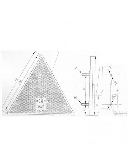 Dimensiones de Triangulo Reflectante Homologado | LeonLeds Reflectantes pare remolques