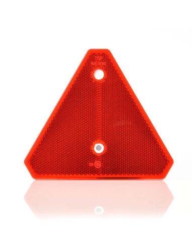 Triangulo reflectante rojo | Triangulo reflectante con agujeros pare remachar | Triangulo reflectante sin esquinas | LeonLeds
