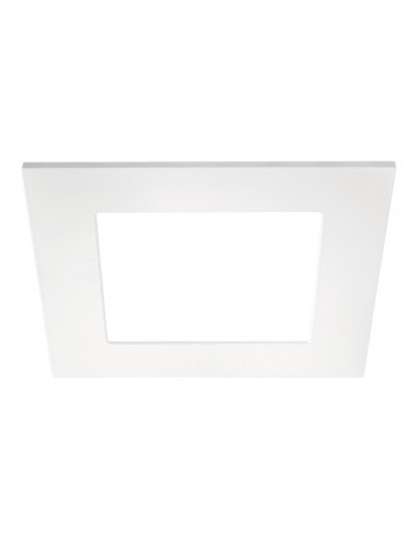 Downlight Quad 2 IP43 LED Empotrable Cuadrado corte redondo 16w blanco y gris | LeonLeds