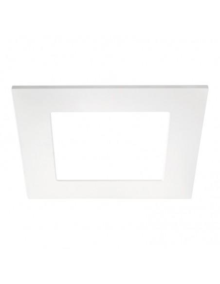 Downlight Quad 2 IP43 LED Empotrable Cuadrado corte redondo 16w blanco y gris | LeonLeds