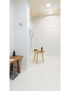 Downlight LED Quad Glass 3 instalado en un Baño de diseño moderno de la marca Arkos Light | LeonLeds