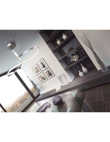 Lámpara LED de techo colgante Forma de Lazo 4980 4995 Dimmable Intensidad Regulable Serie Nur 40w Mantra Plata Cromo 40w 3000K |