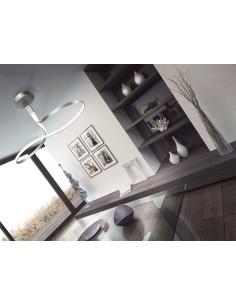 Lámpara de techo colgante 4987 4997 Dimmable Serie Nur 40w Mantra Plata Cromo 40w 3000K Forma de 8 de Diseño | LeonLeds