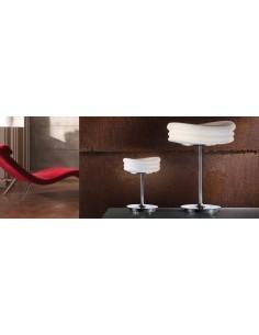Lámpara de Sobremesa Serie Mediterráneo 37cm de diametro 3626 Mantra Cristal Cromo Diseño | LeonLeds