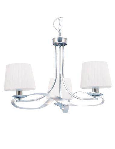 Lámpara de Techo Blanco/Cromo 3 Tulipas Cleveland