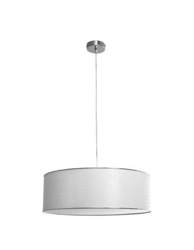 Lámpara de Techo Colgante Blanco Reptil redonda grande 5 bombillas   LeonLeds