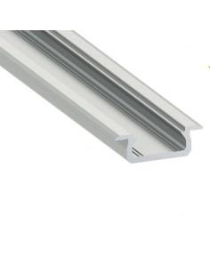 Perfil de tira de led con difusor para empotrar muebles madera | LeonLeds