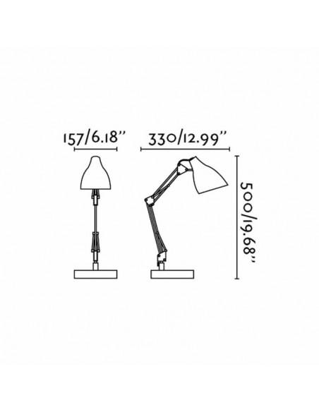 Flexo de mesa de estudio articulable Blanco serie Gru 1XE27 | LeonLeds