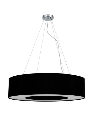 L mpara de techo negra moderna haiti 80cm grande redonda - Instalar lampara techo ...