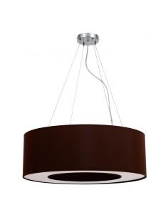 Lámpara de Techo Texitl Marrón Colgante Redonda Haiti Moderna 80Cm 4XE27 Regulable en altura | LeonLeds
