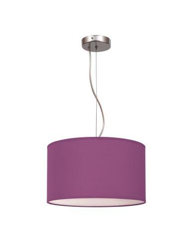 Lámpara de techo Lila Violeta serie Nicole 30Cm redonda colgante | LeonLeds