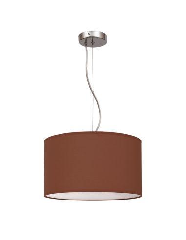 Lámpara de techo Lila Marrón Wengue  serie Nicole 30Cm redonda colgante 042993005   LeonLeds