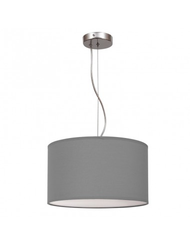 Lámpara de Techo de tela Gris Serie Nicole 30Cm Fabrilamp