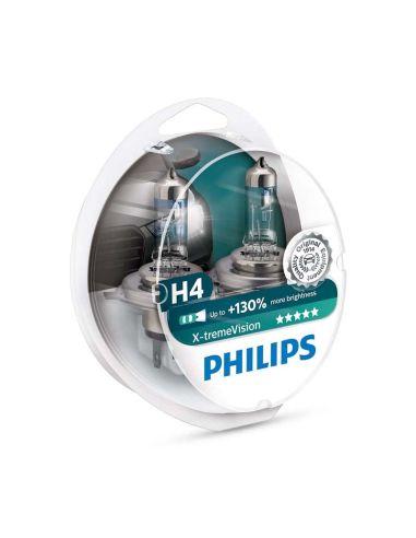 Kit Bombillas Philips para Faro Principal Xtrem-vision mas potente +130% mas de luz | LeonLeds