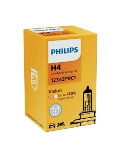 Bombillas H4 Vision Philips P43T-38 Caja de 1 +30% de luz | LeonLeds