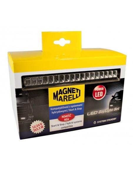 Luz Diurna LED Homologada Magneti Marelli LAQ040 12V 24V Camión Automovil | LeonLeds