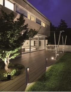 Baliza Exterior LED Cairo Grande IP54 7W 427Lm Negra Mate Gris Moderna Jardin | LeonLeds