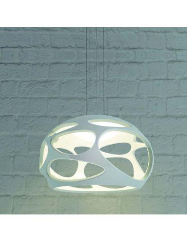 Lámpara de Techo Colgante Blanca Cromo Serie Orgánica Diseño moderno 5141 Mantra 3XE27 / LeonLeds