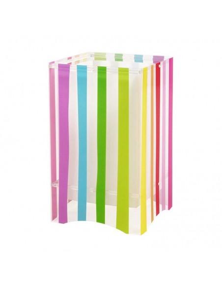Lámpara de Sobremesa Infantil Dalber serie Decoline 44021 Rayas de colores Cuadrada Dalber   LeonLeds