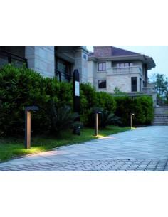 Baliza Exterior LED Guiu IP54 GX53 para Bombilla LED T2 de Dopo Antracita | LeonLeds