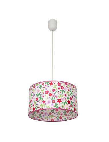 Lámpara Infantil de Techo Colgante Suspensión Serie Bosque Flores de colores 30Cm de diametro Regulable en altura | LeonLeds