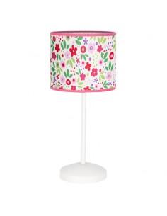 Lámpara de Sobremesa Infantil mesa de noche mesita bosque flores de colores | LeonLeds