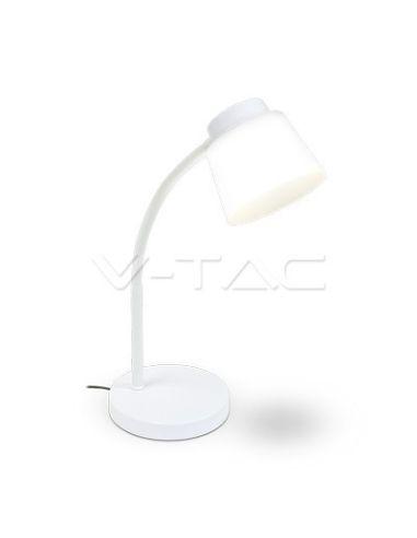 Flexo de mesa LED 5W Blanco Moderno Metalico Rigido regulable 7051   LeonLeds