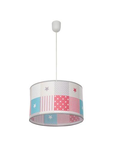 Lámpara de Techo Colgante Infantil Juvenil Redonda Regulable en altura serie mix de colores  077393037 | LeonLeds