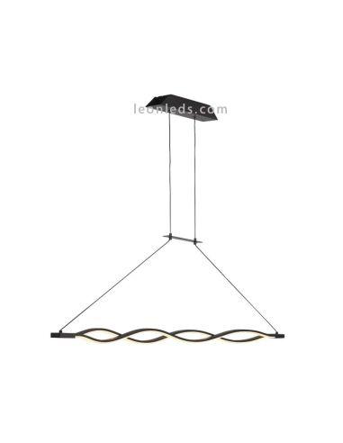 Lámpara de Techo Forja LED Sáhara 36W 3000K Colgante Suspensión Diseño Moderna Negra Mate 5400 Mantra | LeonLeds