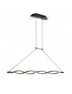Lámpara de Techo Colgante regulable en altura LED Sáhara con acabado Forja y diseño moderno 5801 Grande 42W Intensidad Regulable