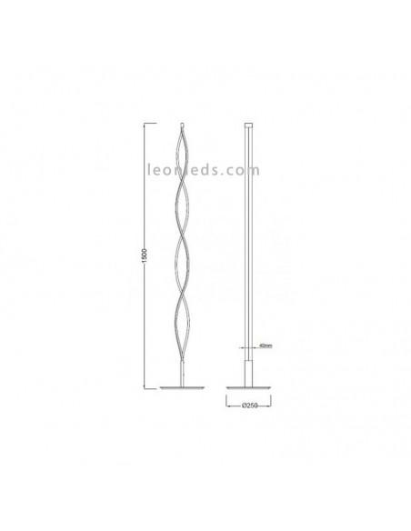Lámpara de Pie de Salón Dimmable LED 28W Sáhara Forja para Salón Acabado Forja moderna 5802 xl | LeonLeds