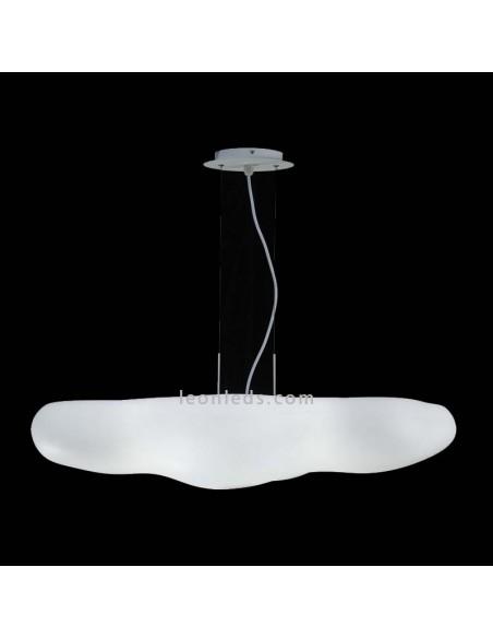 Lámpara de Techo Colgante de suspensión serie Eos 1880 para 6 Bombillas IP20 de interior regulable en altura diseño moderno | Le