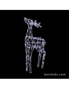 Reno 3D LED Decorativo 90CM Blanco Figura decorativa Navideña Prilux | LeonLeds