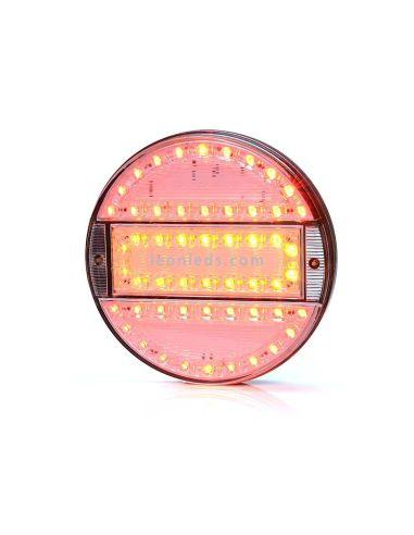 Piloto Trasero Redondo LED Was 3 Funciones 12/24V Tulipa Transparente | LeonLeds Iluminación