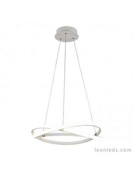 Lámpara de Techo Colgante de Suspensión Moderna Diseño Blanco Infinity mediana de mantra 42W 5990 Dimmable Intensidad Regulable
