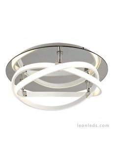 Compra un Plafón moderno Blanco Cromo 30W 2800Lm 2500Lm Redonod LED Moderno 5992 difusor acrilico | LeonLeds