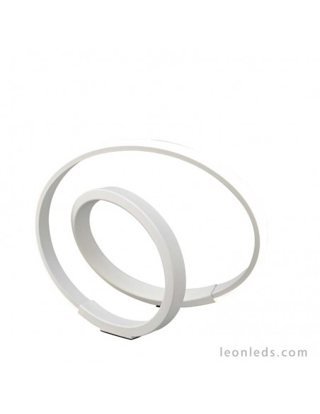 Lámpara de Sobremesa LED Blanca metal difusor acrilico 12W infinity moderna 5994 12w 2800Lm 1000Lm | LeonLeds