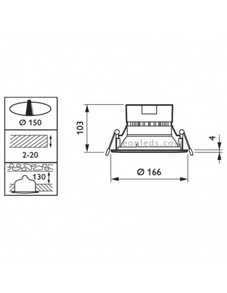 Downlight LED Mini 11W Coreline Gen3 Blanco Philips | LeonLeds