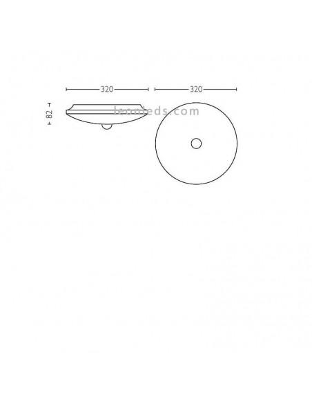 Plafón LED con sensor 16W Mauve PIR blanco de Philips | LeonLeds