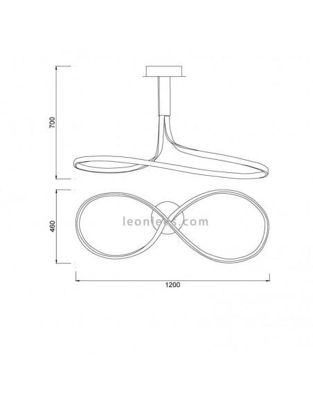 Lámpara de Techo LED Moderna forma de lazo color blanco serie Nur 6005 6005K moderna | LeonLeds