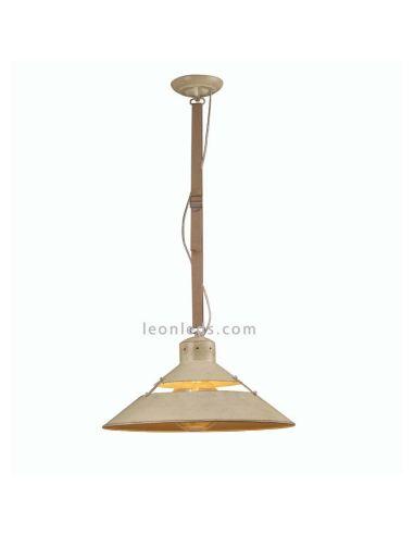 Lámpara Colgante de Techo regulable en altura 5430 acabado Metal Arena Correa Beige retro vintage 1XE27 serie Industrial | LeonL