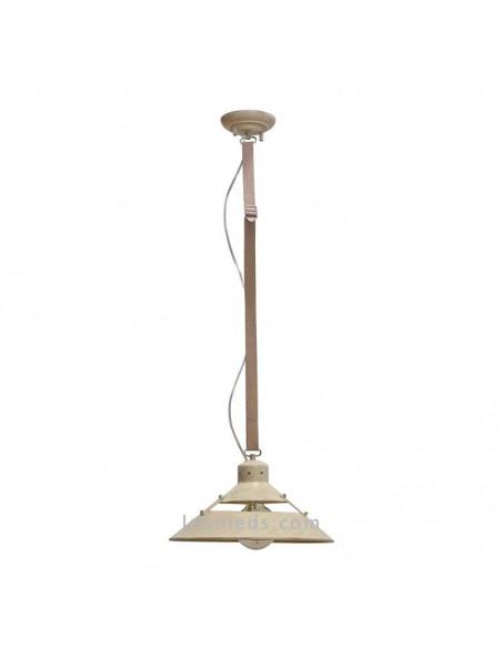 Lámpara Colgante mediana de Techo Correo Beige 5431 acabado Metal arena crema retro vintage 1XE27 serie Industrial | LeonLeds
