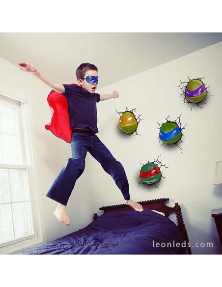 Aplique led Infantil de Pared Leonardo Tortuga Ninja Barato decorativo juvenil para el dormitorio de nuestro pequeño | LeonLeds
