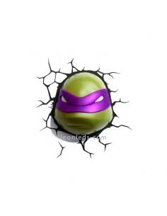 Aplique 3D led Infantil con pilas Donatello Tortuga Ninja para el dormitorio de los más pequeños | LeonLeds