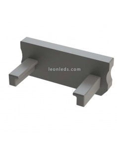 Tapa Final sin Agujero para Perfil  de aluminioTipo D Gris | LeonLeds
