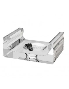 Grapa Transparente Perfil de aluminio tipo D | LeonLeds